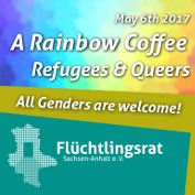 May 6th 2017 A Rainbow Coffee  Refugees & Queers