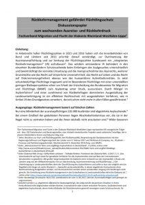 thumbnail of Diskussionspapier_Rueckkehrmanagement_gefaehrdet_Fluechtlingsschutz