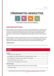 thumbnail of Fördermittel-Newsletter l Resonanzboden KW 7 2018