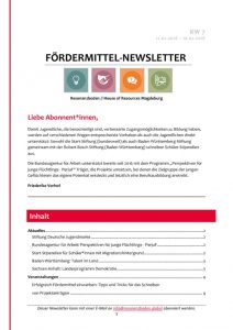 thumbnail of Fördermittel-Newsletter l Resonanzboden KW 7 2018