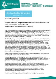 thumbnail of 180309_PE_Landesflüchtlingsrätetreffen Magdeburg_Willkommenskultur war gestern