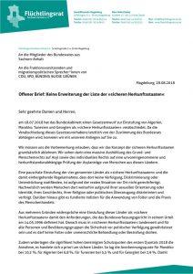 thumbnail of 180828_FR ST_Offener Brief: Keine Erweiterung der Liste der »sicheren Herkunftsstaaten«